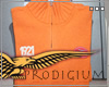 Pullover Short Zip - Orange [Size L]