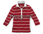 "Polo manica lunga donna ""Stripes"" Rosso MG [Tg. M]"